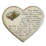 Herz mit Spruch und Motiv zur Goldenen Hochzeit