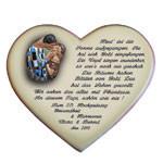 Vers zur Goldenen Hochzeit auf einem Herzen mit Motivwahl
