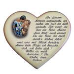 Stilvoller Heiratsantrag auf einem Herzen aus Keramik