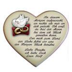 Heiratsantrag auf einem Herzen mit Spruch und Motiv nach Wahl