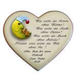 Herz mit Geburtsvers und kleinem Motiv Mond