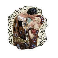 Herz mit Spruch der Kuss von Kustav Klimt ganz neu