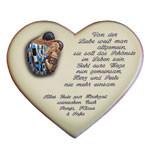 Gedicht zur Hochzeit auf einem Keramikherz