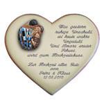 Keramikherz mit Gedicht als Geschenk