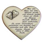 Keramikherz als Geschenk zur Hochzeit