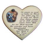 Keramikherz als Geschenk zur Hochzeit mit Gedicht