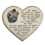 Keramikherz mit Gedicht als Geschenk zur Hochzeit