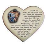 Keramikherz als Geschenk der Liebe zum Hochzeitstag