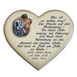 Keramikherz mit Spruch als Geschenk zum Hochzeitstag