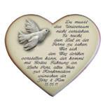 Herz mit Spruch und Gedicht zur Konfirmation