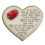 Keramikherz mit Rosenmotiv der Liebe als Komm zurück Geschenk
